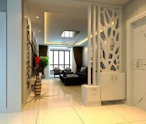 现代简约风格客厅玄关隔断设计装修效果图