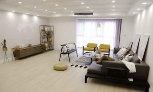 136平米宜家风格自然纯色三室两厅室内装修效果图