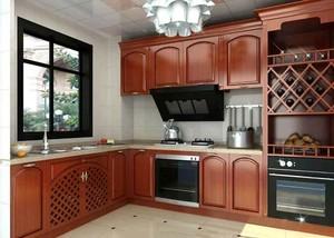 美式乡村风格两居室整体厨房装修效果图鉴赏
