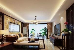 160平米新中式风格复式楼室内装修效果图赏析