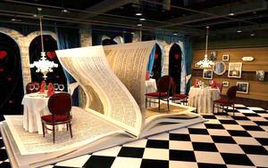 100平米欧式风格创意西餐厅设计装修效果图赏析