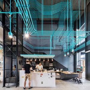 后现代风格loft咖啡厅设计装修效果图赏析