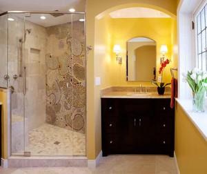 古典欧式风格卫生间淋浴房装修效果图