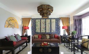 139平米中式风格三室两厅室内装修效果图赏析