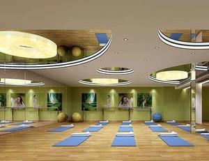 120平米现代简约风格瑜伽馆设计装修效果图