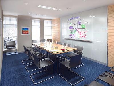40平米现代风格会议室背景墙装修效果图