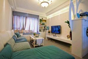 121平米清新舒适地中海风格三室两厅装修效果图
