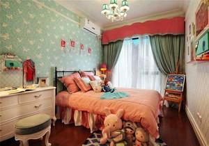 美式田园风格三居室儿童房装修效果图赏析