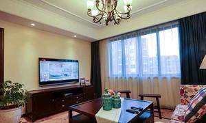 137平米复古风格两室两厅室内装修效果图