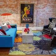 后现代风格两居室客厅装修效果图赏析