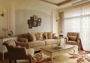 140浅色温馨舒适欧式风格两室两厅室内装修效果图鉴赏