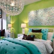 现代简约风格清新卧室背景墙装修效果图赏析