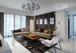110平米精致现代风格两居室装修效果图赏析