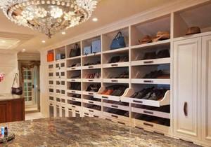 欧式风格别墅室内奢华精致衣帽间设计装修效果图