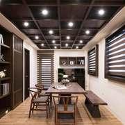 新中式风格三居室室内书房设计装修效果图赏析