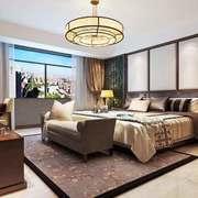 新中式风格典雅精致卧室背景墙装修效果图