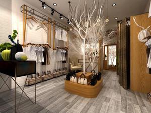 52平米乡村风格服装店设计装修效果图赏析