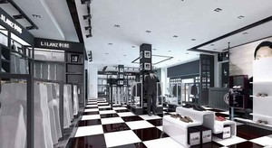 180平米现代风格服装店设计装修效果图赏析