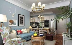 北欧风格清新自然温馨两室两厅室内装修效果图