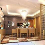 现代简约风格大户型室内餐厅隔断设计装修效果图