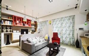 50平米现代风格精致单身公寓设计装修效果图