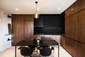 55平米现代简约风格一居室小户型室内装修效果图