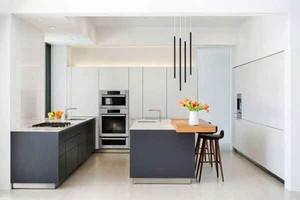 现代风格精致时尚开放式厨房装修效果图大全