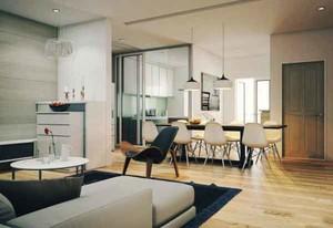 73平米宜家风格自然舒适两室一厅设计装修效果图