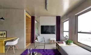 60平米现代风格loft一居室小户型室内装修效果图