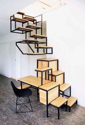 现代风格创意组合楼梯装修效果图