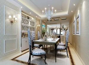 欧式风格精致奢华餐厅背景墙装修效果图