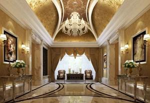 富丽堂皇宫廷欧式风格别墅家装吊顶设计装修效果图