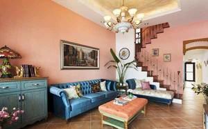 出彩美式混搭风格复式楼室内装修效果图赏析