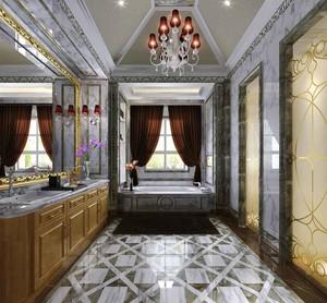 欧式风格别墅室内卫生间装修效果图赏析