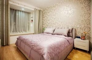 简欧风格两居室精美卧室背景墙装修效果图