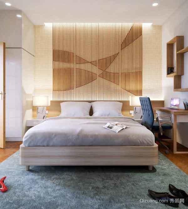 现代简约风格卧室背景墙装修效果图大全赏析