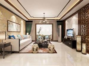 90平米雅致风趣中式风格室内装修效果图