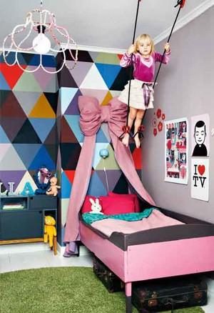 现代简约风格暖色调儿童房设计装修效果图