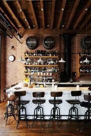 乡村风格主题酒吧吧台设计装修效果图赏析