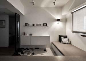 69平米现代简约风格两室一厅室内装修效果图