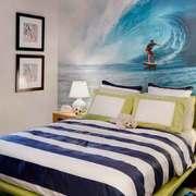 现代简约风格时尚儿童房背景墙装修效果图赏析