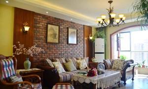 120平米复古风格低调精致室内装修效果图赏析