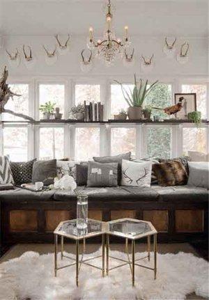 美式风格随性自然飘窗设计装修效果图赏析