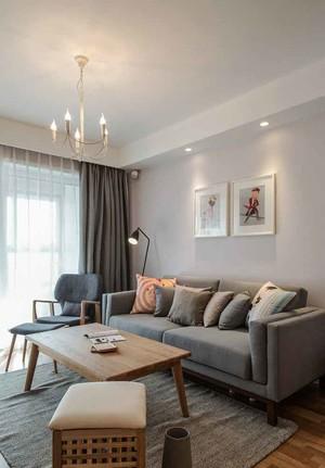 109平米日式风格自然舒适三室两厅室内装修效果图案例
