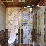时尚混搭风格大户型室内卫生间淋浴房设计装修效果图