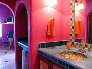 现代风格时尚红色卫生间装修效果图大全