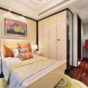 现代风格两居室卧室整体衣柜设计装修效果图