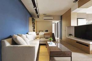 65平米现代简约风格一居室小户型装修效果图赏析