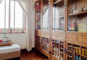 东南亚风格禅意书房设计装修效果图鉴赏