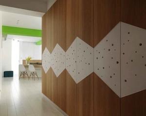 54平米现代简约风格小户型室内装修效果图